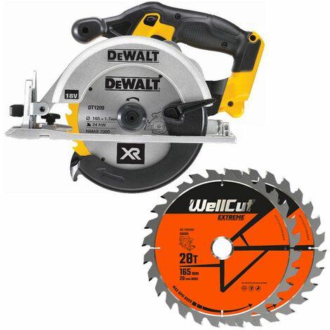 DeWalt DCS391N 18V XR li-ion Circular Saw 165mm With 2 Extra 28 Teeth Wood Blades