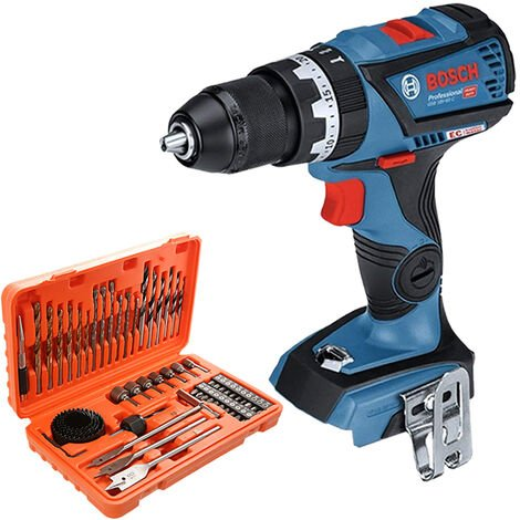 Bosch GSB18V-60 18V Brushless Combi Drill With 56 Piece Drill & Screwdriver Bit Set