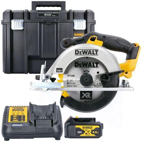 Dewalt DCS391N 18V 165mm XR Circular Saw With 1 x 4.0Ah Battery, Charger & Case