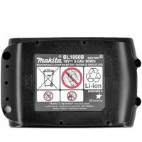 Makita Genuine BL1850 18V 5.0Ah Li-Ion LXT Battery Twin Pack