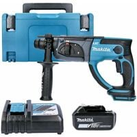 Makita DHR202 18V SDS+ Hammer Drill With 1 x 6.0Ah Battery, Charger, Case & Inlay
