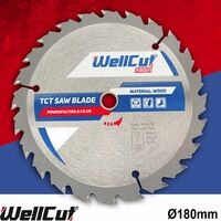 WellCut TCT Saw Blade Profi 180mm x 40T x 30mm Bore Suitable For EVOSAW180HD