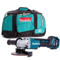 Makita DGA517 18V Brushless Angle Grinder 125mm With LXT400 831278-2 Bag