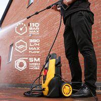TOUGH MASTER® pressure washer jet power patio cleaner 110bar lightweight