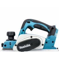 Makita DKP180 18V LXT Li-Ion 82mm Planer With 1 x 6.0Ah Battery, Charger & Case
