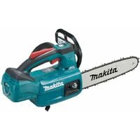 Makita DUC254 18V LXT Brushless Top Handle Chainsaw With 2 x 5.0Ah Batteries & Charger