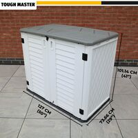 TOUGH MASTER 730L Garden Storage Shed Plastic Outdoor Waterproof for Garden Tools, Toys