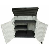 TOUGH MASTER Garden Storage Shed with Shelves, Outdoor Storage for Bins, Tools, Toys, Grills- 730L