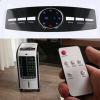 TOUGH MASTER® Oscillating Portable Air Evaporative Cooler Fan Air Purifier remote control & wheels