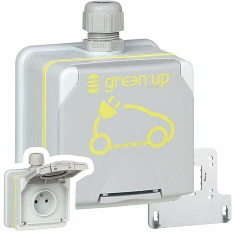 Prise Green'up Access Legrand pour voiture électrique 090471 - Etanche, branchement saillie - Modes 1 ou 2 - 3.2 kW