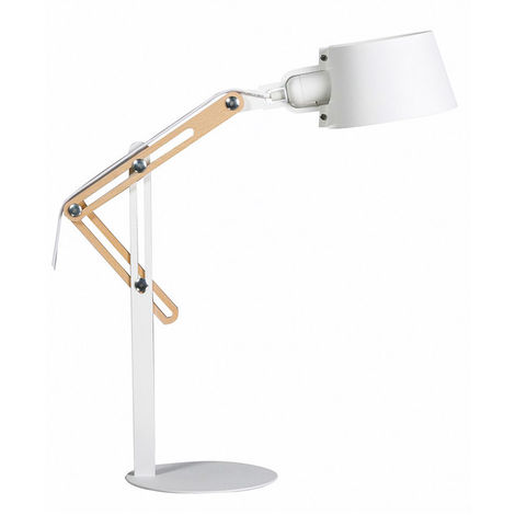 Lampe à poser design métal BILLY - Blanc