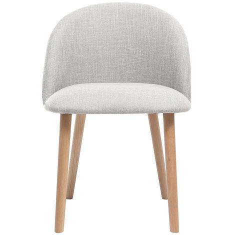 Chaise scandinave bois CELESTE - Gris clair