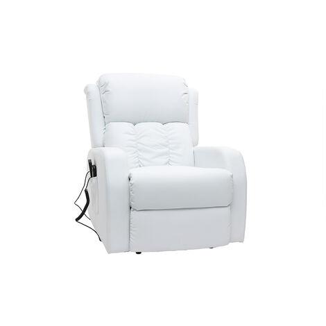 Fauteuil relax électrique massant GALLER - Blanc