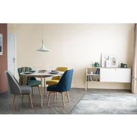 Chaise scandinave tissu pieds bois LIV - Jaune