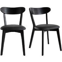 Chaises vintage noires (lot de 2) DOVE