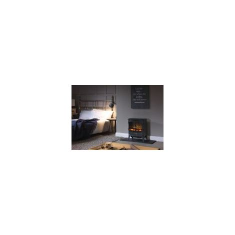 Dimplex Springbourne 2 kw Optiflame Electric Stove Coal Effect Black Livingroom Fire with Remote Control