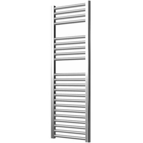 Extra High Heat Output Chrome Electric Towel Rail 400 x 1200mm + TIMER / ROOM THERMOSTAT Flat Bathroom Radiator Heater