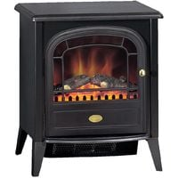 Dimplex Club 2 kw Optiflame Electric Stove Log Effect Black Livingroom Fire with Remote Control