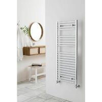 Extra High Heat Output Chrome Central Heating Towel Rail 300 x 800mm Flat Bathroom Radiator Heater