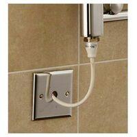 Extra High Heat Output Chrome Electric Towel Rail 300 x 1200mm + TIMER / ROOM THERMOSTAT Flat Bathroom Radiator Heater