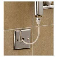 Extra High Heat Output Chrome Electric Towel Rail 400 x 1800mm + TIMER / ROOM THERMOSTAT Flat Bathroom Radiator Heater