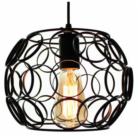 Creative Light Ceiling Chandelier Lamp Lighting Fixture E27 Light Fitting Socket for Home Office Hotel Bar Restaurant, black
