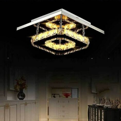 Modern 20cm 12W LED Crystal Ceiling lights chandeliers Aisle light, Warm White