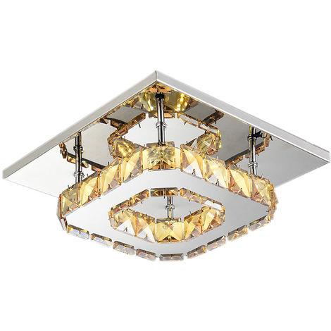 Modern k9 Crystal Chandelier Lighting Clear Glass Crystal Ceiling Light LED Ceiling Pendant Lights Fixture for Living Room Bedroom Dining Room(Warm)