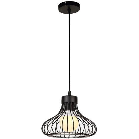Black Simple Ceiling Light Vintage Industrial Pendant Light Creative Retro Chandelier for Indoor Decoration