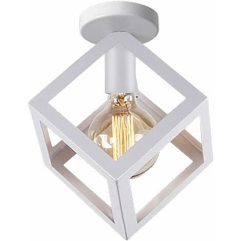 Industrial Ceiling Lights White Vintage Ceiling Lamp Cage chandelier Retro Lighting Fixture Indoor Home