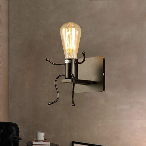 Modern Wall Light Creative Wall Lamp Black Human Shape Wall Light