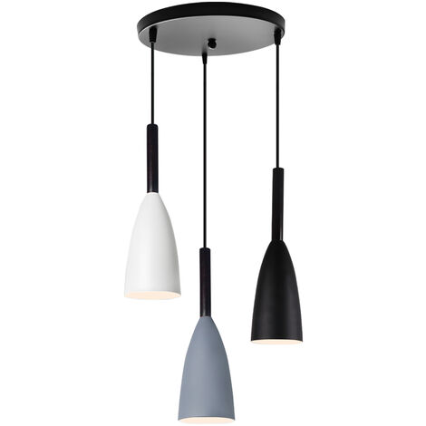 Nordic Modern Pendant Light Retro 3 Lights Hanging Light Vintage Style Pendant Lamp for Bedroom Cafe Living Room Indoor Lighting