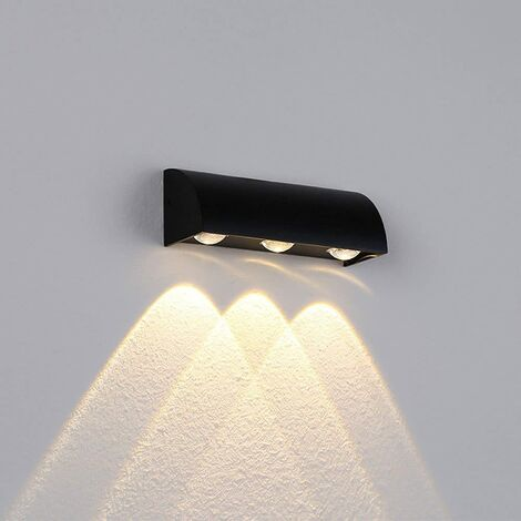 Modern Wall Light 3000K Led Simple Wall Lamp Indoor Wall Sconce for Hotel Porch Courtyard Matte Black - (Warm White)