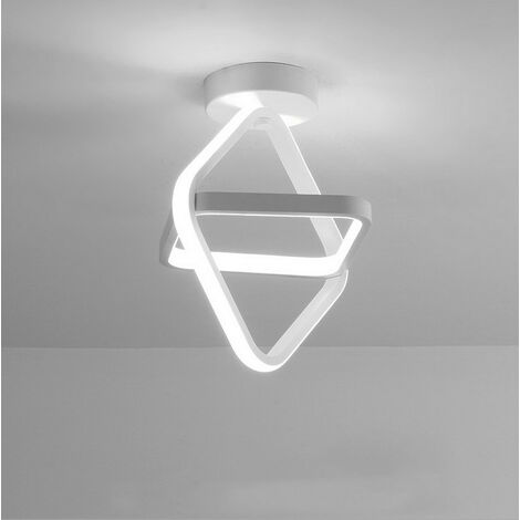 Modern Led Ceiling Light White Nordic Style Chandelier Cube Design Ceiling Lamp for Bedroom, Kitchen, Living Room, Corridor, Restaurant, Balcony, Cold White