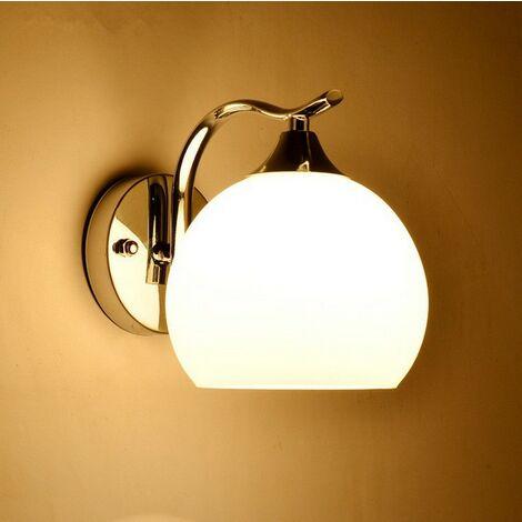 Modern Wall Light,Polished Chrome Finish, Glass Lamp Shade,Modern Wall Lamp for Bedroom, Living Room, Hallway, Hotel