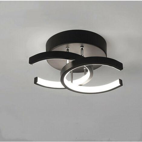 Modern Led Ceiling Light Nordic Style Chandelier Creative Acrylic Ceiling Lamp Black for Bedroom, Kitchen, Living Room, Corridor, Restaurant, Balcony, Cold White