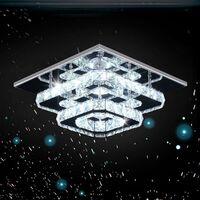 K9 Crystal Ceiling Light Modern Crystal Chandelier Chrome Finish Elegant Ceiling Lamp for Bedroom, Living Room, Bathroom, Hallway (Cold White)
