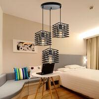 Vintage Creative Pendant Light 3 Lights Industrial Ceiling Light Retro Pendant Lamp for Living Room Dining Room Bar Balcony Black E27