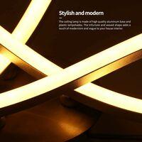 Modern Led Ceiling Light Modern Creative Chandelier With 3 PCS Wave Shape Ceiling Lamp for Living Room Bedroom Dining Room (3 Lights Warm White)