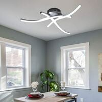 Modern Led Ceiling Light Modern Creative Chandelier With 3 PCS Wave Shape Ceiling Lamp for Living Room Bedroom Dining Room (3 Lights Cold White)