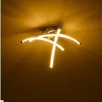 Modern Creative Chandelier Modern Led Ceiling Light With 3 PCS Wave Shape Ceiling Lamp for Living Room Bedroom Dining Room (3 Lights Cold White)