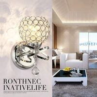 Modern Crystal Wall Light Style Crystal Wall Lamp Nordic Wall Sconce for Bedroom Aisle Living Room Wall Light Holder E14 Socket,Silver