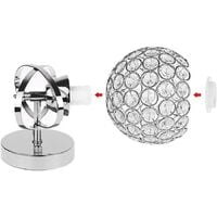 2PCS Modern Crystal Wall Light Style Crystal Wall Lamp Nordic Wall Sconce for Bedroom Aisle Living Room Wall Light Holder E14 Socket,Silver