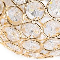 2PCS Modern Crystal Wall Light Style Crystal Wall Lamp Nordic Wall Sconce for Bedroom Aisle Living Room Wall Light Holder E14 Socket,Gold