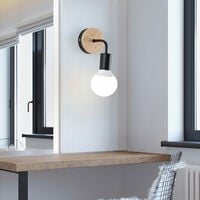Modern Wall Light Black Simple Wall Sconce Indoor Wall Lamp Nordic Style Wall Lamp E27 (2Pack) for Corridor, Aisle, Porch, Bedroom Kitchen Living Room