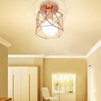 3 Pack Antique Retro Chandelier Rose Gold Creative Modern Ceiling Light E27 Industrial Ceiling Lamp Metal Chandelier
