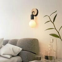 Modern Wall Light Simple Wall Sconce Black Indoor Wall Lamp Nordic Style Wall Lamp E27 (2PCS) for Corridor, Aisle, Porch, Bedroom Kitchen Living Room