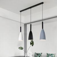Nordic Modern Pendant Light Vintage 3 Lights Hanging Light Retro Style Pendant Lamp for Bedroom Cafe Living Room Indoor Lighting