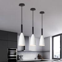 Nordic Modern Pendant Light Retro Hanging Light Vintage Style Pendant Lamp (White) for Bedroom Cafe Living Room Indoor Lighting