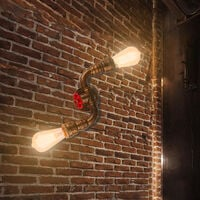 Rustic Industrial Wall Lamp Bronze Vintage Double Heads Wall Light Retro Metal Wall Sconce for Living Room, Dining Room, Office, Pub, Cafe, Hotel